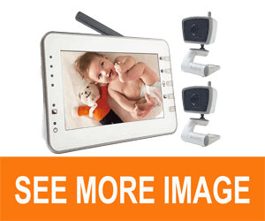 MoonyBaby 4.3 inches Large LCD Video Baby Monitor Two Cameras Pack